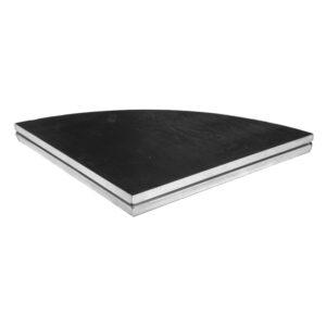 Basicline Curved Deck 1.0mR OD 90°; Black Coated Finish