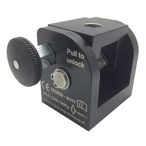The Space Saver enables a clamp or Spigot to be permanently fitted to a luminaire or projector etc and folded into a storage position to save space. SWL: 100Kg