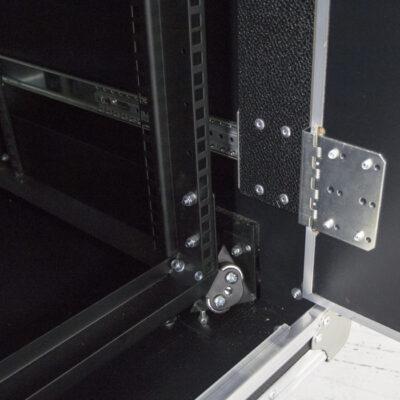 24RU Anti-Vibration Rack Mount Case with Slide-away doors; 800mmD OD; Rack Frame 559mmD - Black