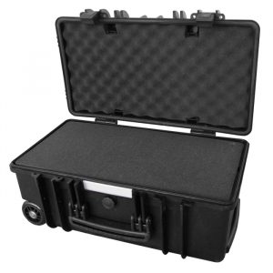 Protective IP67 Utility Hard Case with Easy-Cut Foam Inserts; Pull-up Handle and Rolling Wheels