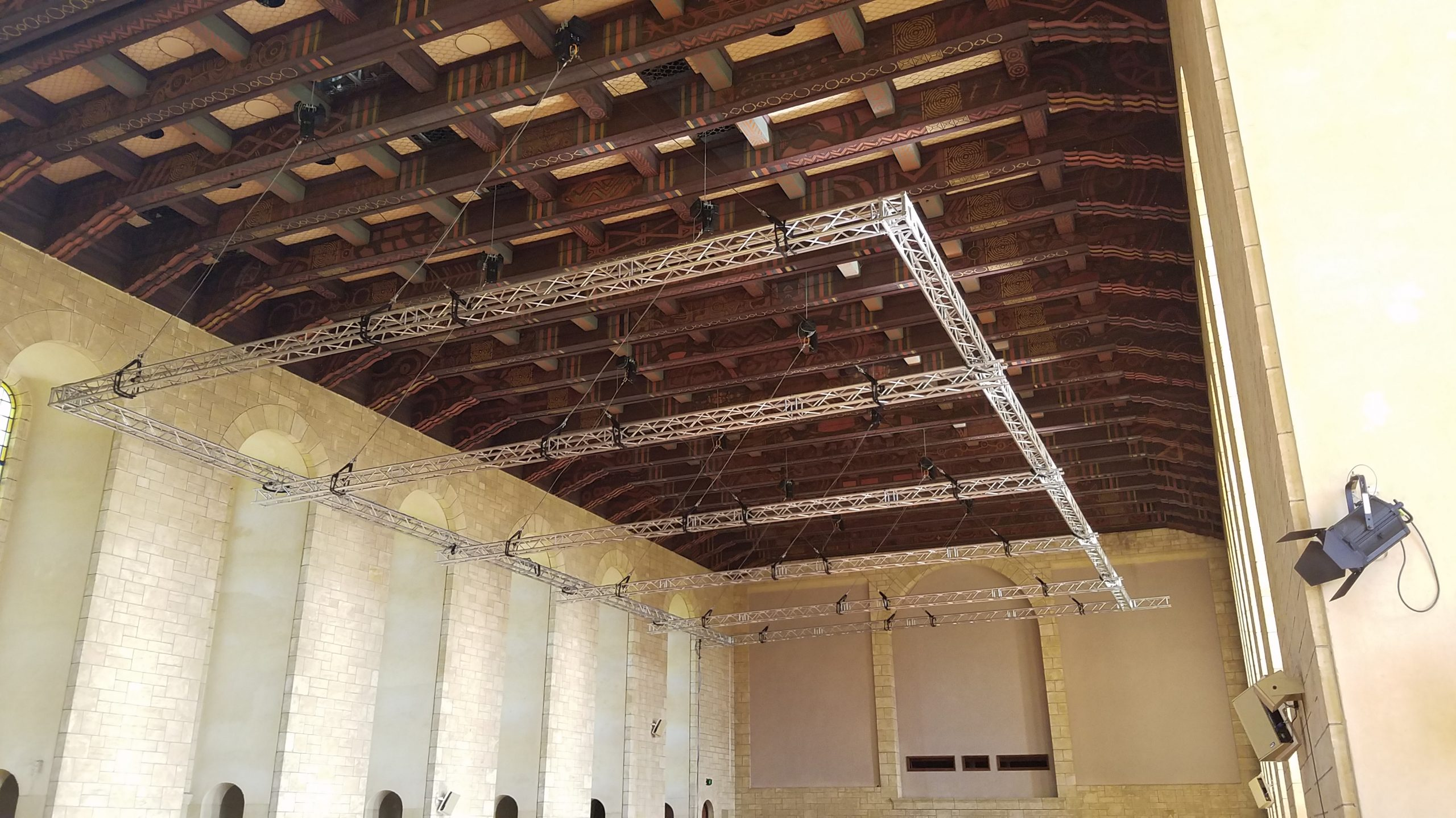 """Featured image for """"PAV Events F34 truss mother grid installation in iconic heritage listed building"""""""